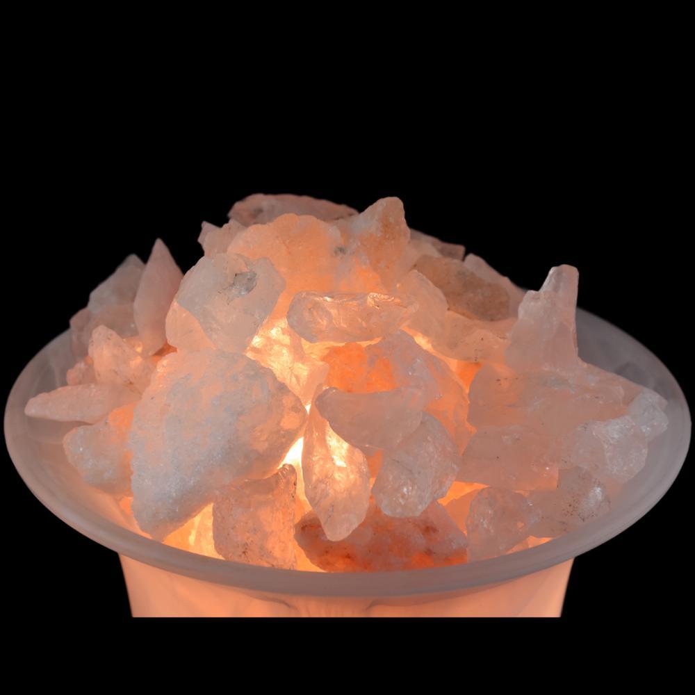 lampe verre sel de l 39 himalaya et cristal de roche. Black Bedroom Furniture Sets. Home Design Ideas
