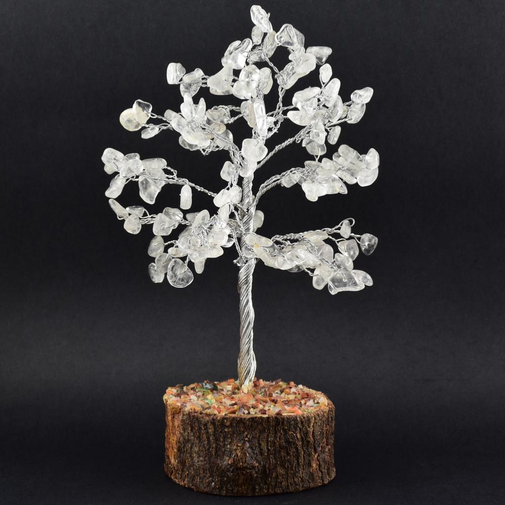 arbre du bonheur 150 pierres gemme cristal de roche. Black Bedroom Furniture Sets. Home Design Ideas