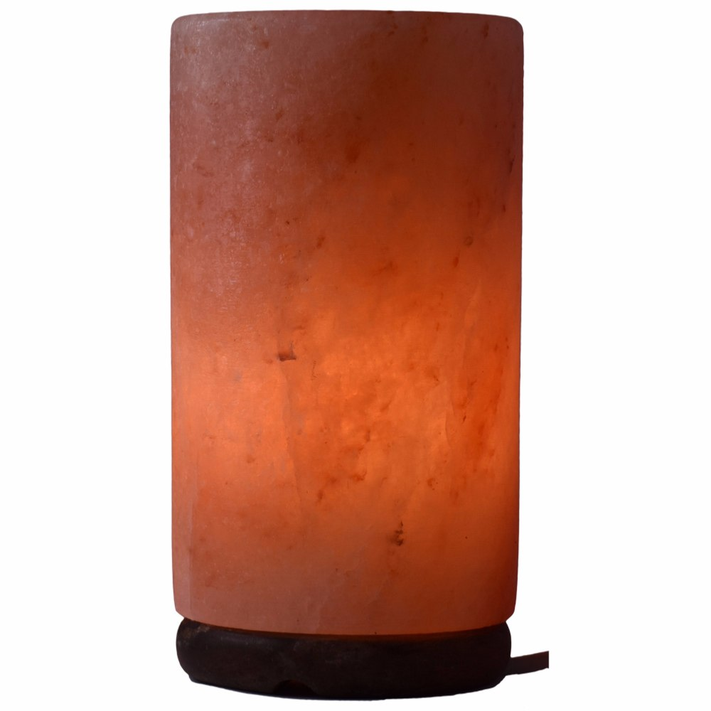 Lampe Cristal De Sel De L Himalaya Forme Cylindre 3 Kg