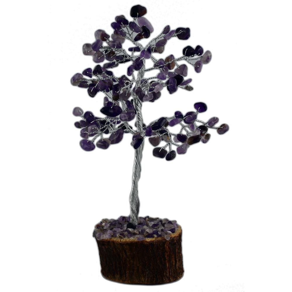 arbre du bonheur 150 pierres gemme am thyste. Black Bedroom Furniture Sets. Home Design Ideas