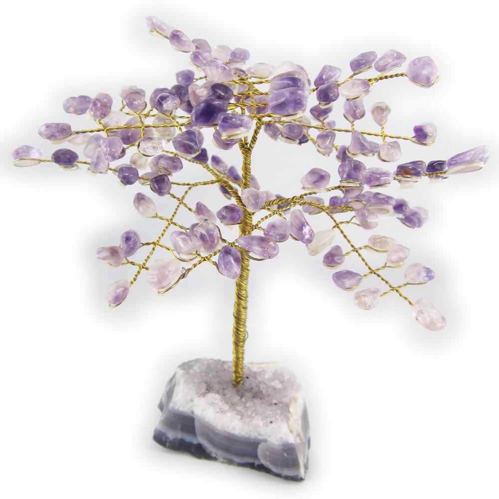 arbre du bonheur ou arbre de vie gemme am thyste taille 3. Black Bedroom Furniture Sets. Home Design Ideas