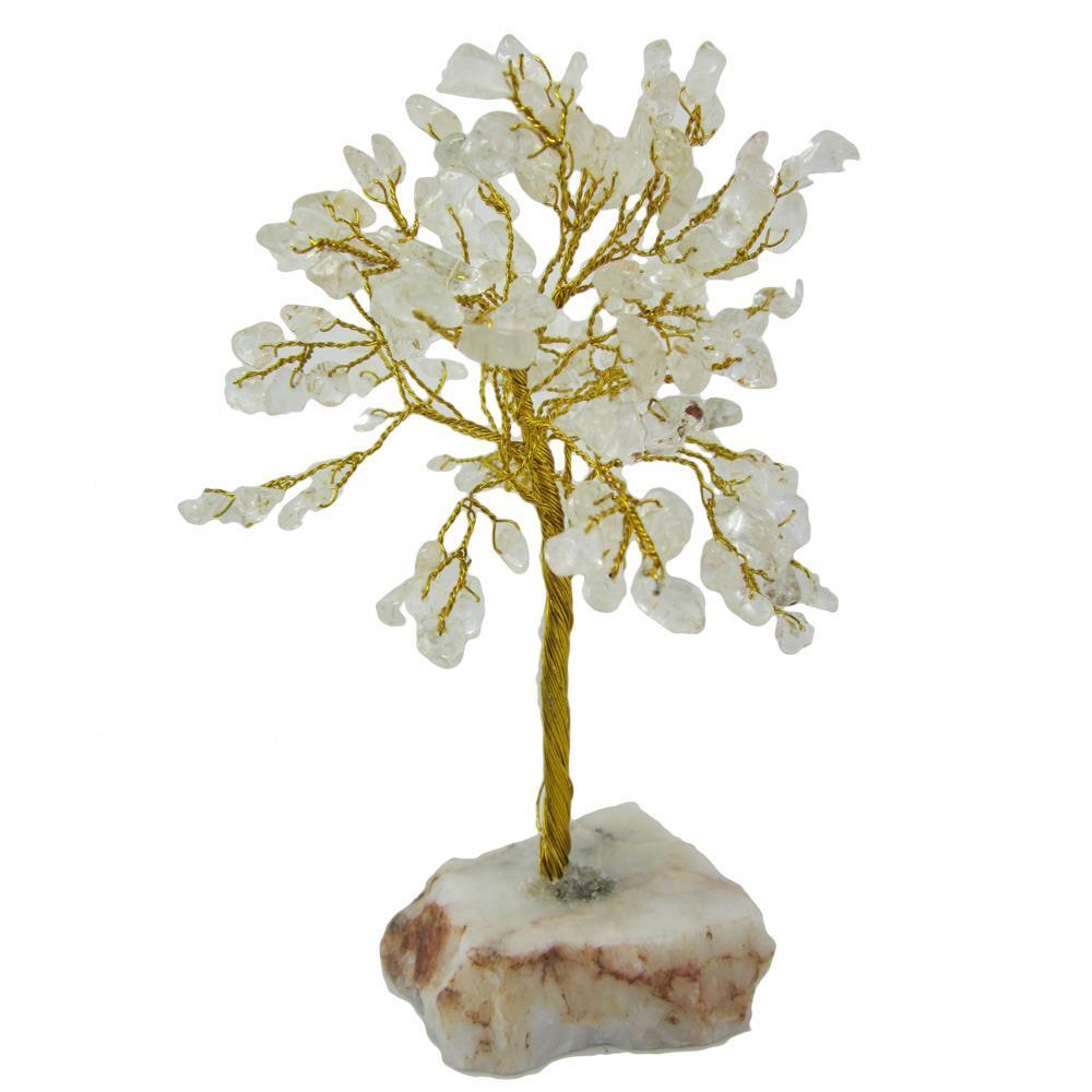 arbre du bonheur ou arbre de vie cristal de roche 20 cm. Black Bedroom Furniture Sets. Home Design Ideas